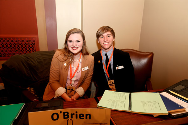 Youth in Government delegates