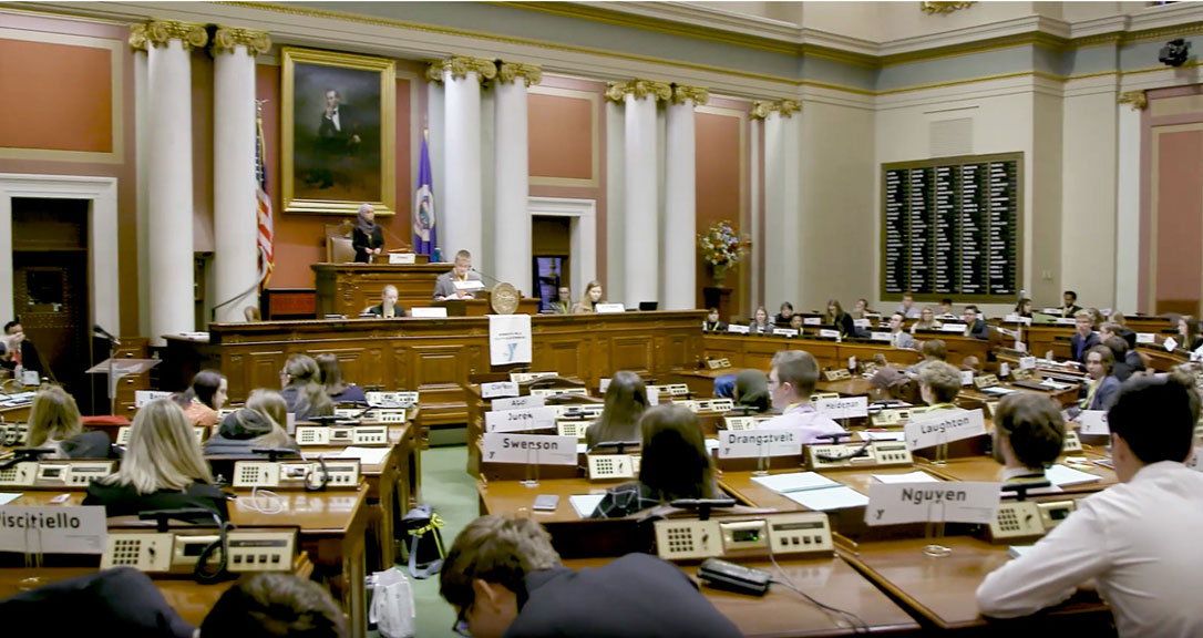 Minneapolis teens take part in Youth in Government at the Minnesota State House