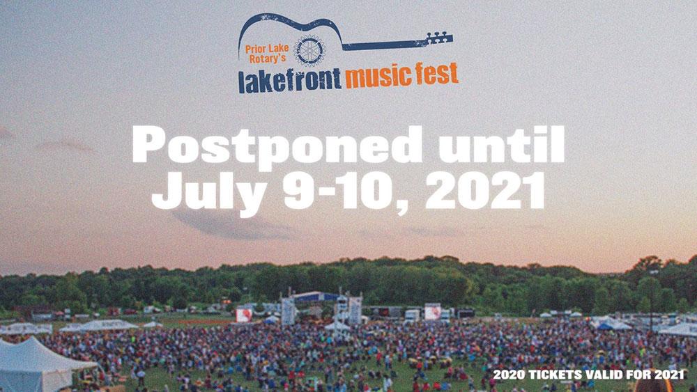 Lakefront Music Fest Postponed Until July 9-10, 2021