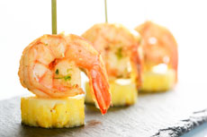 Grilled chili shrimp & pineapple